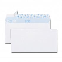 Boite de 500 enveloppes blanches + 50 gratuites DL 110x220 75 g/m² bande de protection