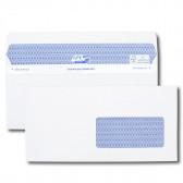 Boîte de 500 enveloppes blanches DL+ 112x225 90 g/m² fenêtre 45x100 Secure®